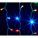 Гирлянда наружная OIC100LSE-MG-E(24) Сосульки 100 красный синий  20 нитей, 2м. до 20-ти модулей