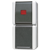 Комбинация - розетка и контрольный выключатель; для накладного монтажа IP44