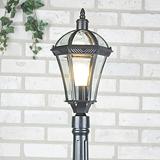 Светильник на столбе садово-парковый черный Capella F