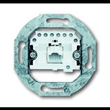 Механизм 1-постовой телефонной розетки 8 полюсов RJ 11/12; RJ 45; ISDN, категория 3 0230-0-0378 ABB