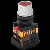 Кнопка ABLF-22 красный d22мм неон/240В 1з+1р ИЭК