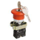 Кнопка управления LAY5-BS542 Грибок аварийная с фиксацией поворотная