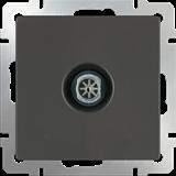ТВ-розетка проходная  /WL07-TV-2W (серо-коричневый) /a033756