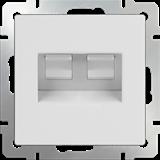Розетка двойная Ethernet RJ-45 (белый) / WL01-RJ45+RJ45 /a033759