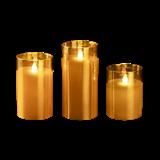 Свеча LED CL7-SET3 2xAA 3шт. золото ФАZA