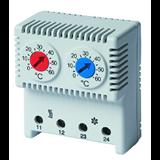 Термостат, диапазон +5 ~ +60 градусов С, перекидной контакт NO/NC R5THRV13 ДКС