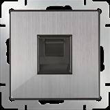 Розетка Ethernet RJ-45 (глянцевый никель) / WL02-RJ-45/  a040409