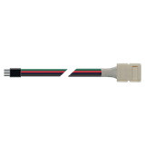 Коннектор PLSC-10x4/15/4pin (5050 RGB) Jazzway (5шт/уп) (разъем контроллер-клипса лента RGB)
