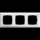 Рамка на 3 пост (белый) / WL14-Frame-03_Fiore/  a038839