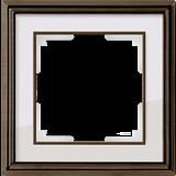 Рамка на 1 пост (бронза /белый) /WL17-Frame-01_Palacio /a037682