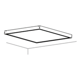 Рамка Philips для накладного монтажа LED панели 597x597 RC091Z SMB-597x597 911401724272 Philips (Signify)