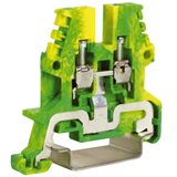 Зажим для заземления желт.зелен 2,5 кв.мм TEO.2, ZTO910. 80px x 80px