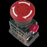 Кнопка AE-22 'Грибок' с фиксацией красный d22мм