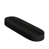 Крепление стационарное накладное PTR T2- BL черный для двух светильников IP40 однофазный .5016842 JAZZWAY