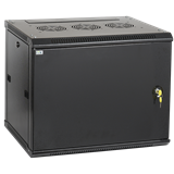 ITK Шкаф LINEA W 9U 600x450 мм дверь металл, RAL9005 LWR5-09U64-MF IEK
