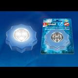 DTL-357 Звезда/Blue/3LED/3АAA Cветильник-ночник пушлайт, питание от 3-х батареек AAA (в комплект не