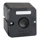 Пост кнопочный ПКЕ 222-1-У2-IP54- черная кнопка 150754 КЭАЗ