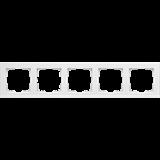 Рамка на 5 постов / WL04-Frame-05-white(белый)_Stark /a030811
