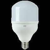 Лампа LED E40 65Вт 4000K 5850Lm 220В цилиндр мат. HP LLE-HP-65-230-40-E40 IEK