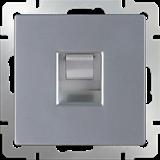 Розетка Ethernet RJ-45 /WL06-RJ-45 (серебро)/  a029834