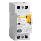 Устройство защитного отключения УЗО ВД1-63 2п 16А 30мА тип AC MDV10-2-016-030 IEK