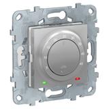 Термостат теплого пола, 10А, выносной термодатчик, Алюминий / UNICA NEW / NU550330
