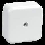 Коробка КМ41206-01 распаячная для о/п 50x50x20 мм белая (с контактной группой)