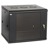 ITK Шкаф LINEA W 9U 600x600 мм дверь стекло, RAL9005 LWR5-09U66-GF IEK