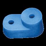Изолятор угловой для 'О' шины синий ИЭК YIS32