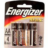 Элемент питания AA  алкалин.  LR6  пальчикова  Energizer MAX  (блистер 4шт)