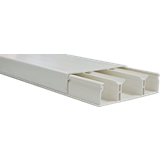 Кабель-канал 75х20x2000мм белый, с перегородками