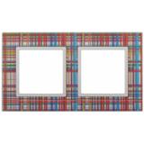Рамка универсальная Elegance 2-х постовая стекло, прозрачный/белый
