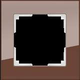 Рамка на 1 пост (мокко) / WL01-Frame-01_Favorit/  a031792