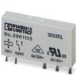 Одиночное реле REL-MR- 24DC/21 2961105 PHOENIX CONTACT