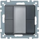 SE Merten KNX SM Антрацит Сенсор 2-кнопочный Plus