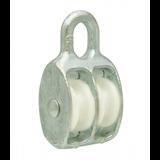 Tech-Krep Блок для троса двойной оцинк. (нейлон.шкив) 50мм (1 шт) - ярлык