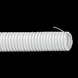 Труба  ПВХ  d20 гибкая лёгкая с протяжкой (100м) ИЭК