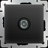 ТВ-розетка оконечная /WL08-TV (черный матовый)/  a029881