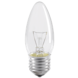 Лампа C35 свеча прозр. 60Вт E27