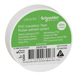 Изолента ПВХ 19мм х20м белая Schneider 2420104 Schneider Electric
