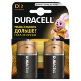 Элемент питания D алкалин (большая) Duracell LR20-2BL (2шт в упаковке)