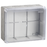 Коробка КМ41330 распаячная для о/п 100х100х50 мм IP55 RAL7035, гермовводы PG9 5 шт UKO10-100-100-050-K51-55 IEK
