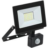 Прожектор LED СДО 06-30Д 30Вт 6500K IP54 185mm черный, с датчиком движения