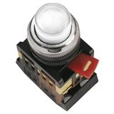 Кнопка ABLFP-22 белый d22мм неон/240В 1з+1р