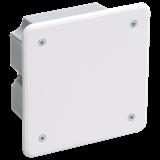 Коробка КМ41021 распаячная 92х92x45мм для полых стен (с саморезами, метал. лапки, с крышкой ) ИЭК