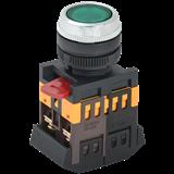 Кнопка ABLFS-22 зеленый d22мм неон/240В 1з+1р ИЭК
