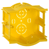 Коробка С3 уст. d68x45мм для тв. стен (сборн., проходн.) IEK