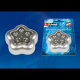 DTL-359 Цветок-B/Silver/5LED/3АAA Cветильник-ночник пушлайт, питание от 3-х батареек AAA (в комплект