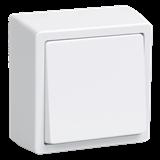 Выключатель 1-клавишный Брикс 10А 250В IP20 белый EVB10-K01-10-DC IEK