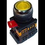 Кнопка ABLFS-22 желтый d22мм неон/240В 1з+1р BBT30-ABLFS-K05 IEK